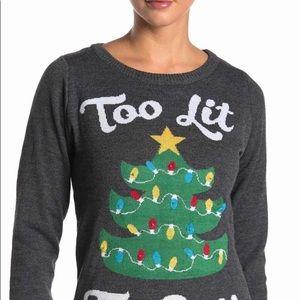 Too Lit To Quit Christmas Shirt   Tipsy SZ XXL NWT